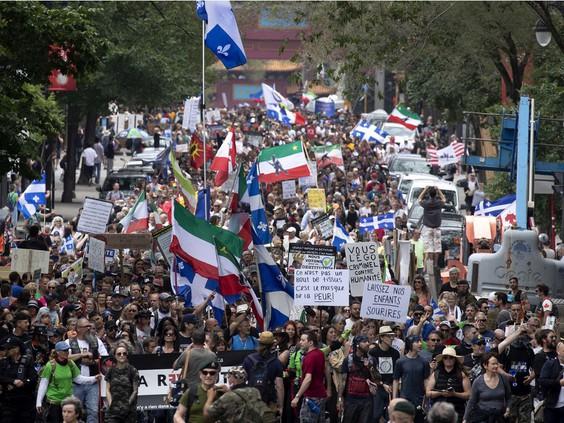 تظاهرة في مونتريال ضد القيود الصحية تجتذب الآلاف | مهاجر